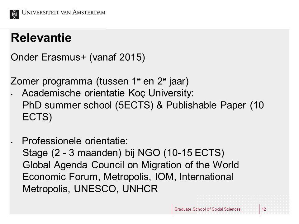 Relevantie Onder Erasmus+ (vanaf 2015)