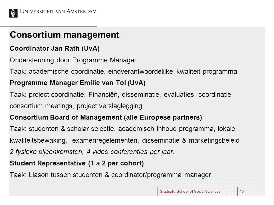 Consortium management