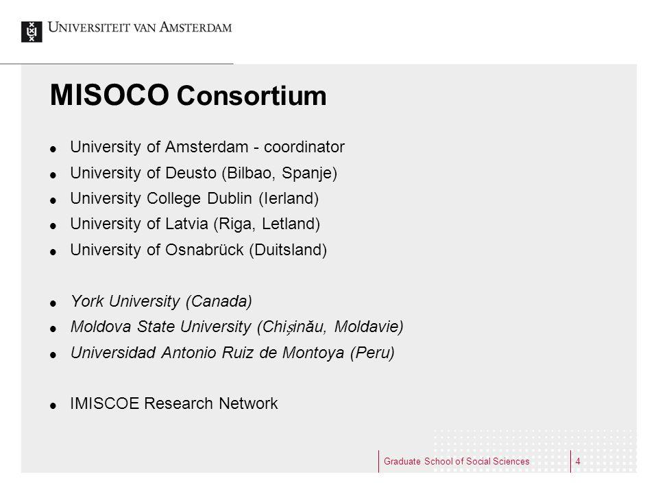 MISOCO Consortium University of Amsterdam - coordinator