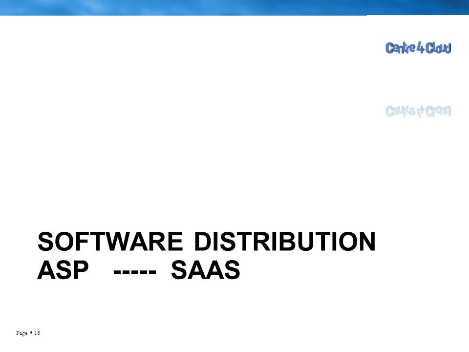 Software distRibution ASP ----- SAAS