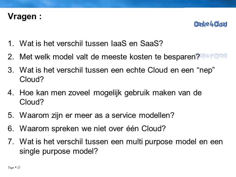 Vragen : Wat is het verschil tussen IaaS en SaaS