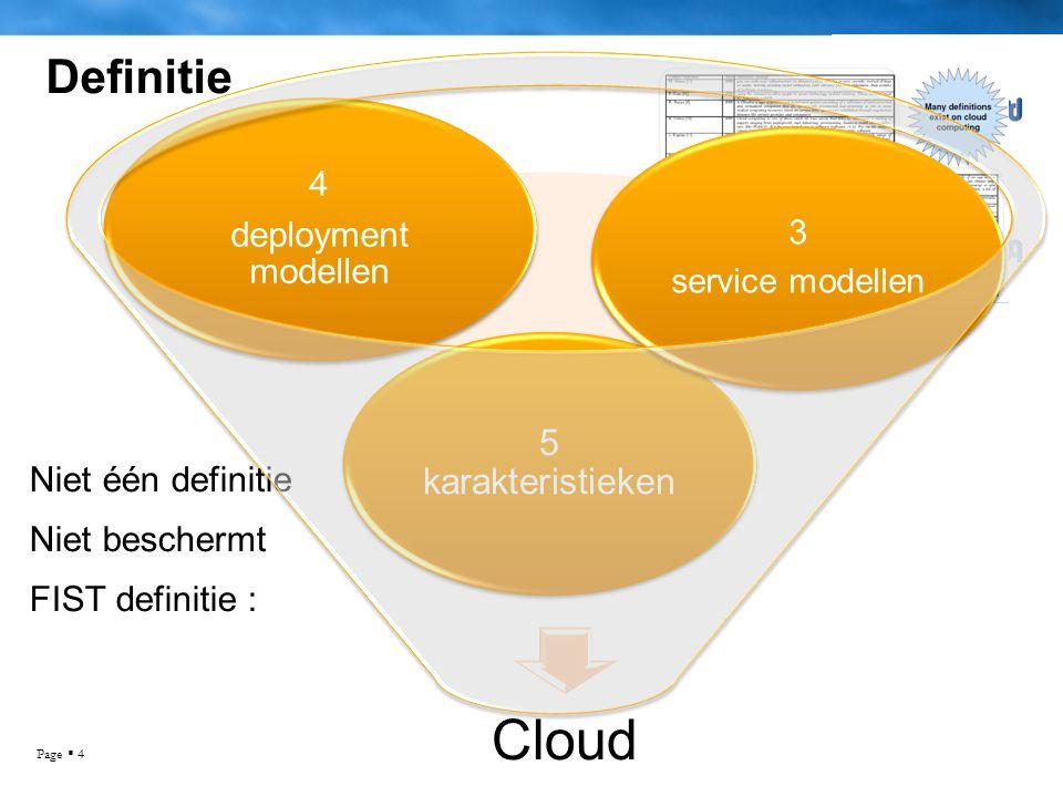 Cloud Definitie 5 karakteristieken 4 deployment modellen