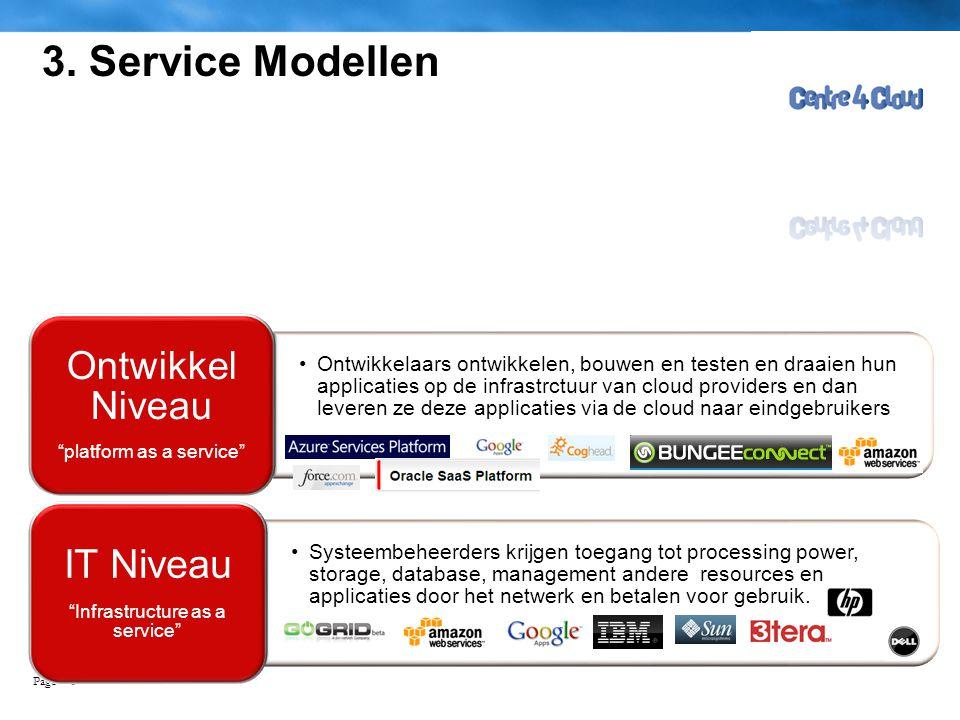 3. Service Modellen IT Niveau Ontwikkel Niveau