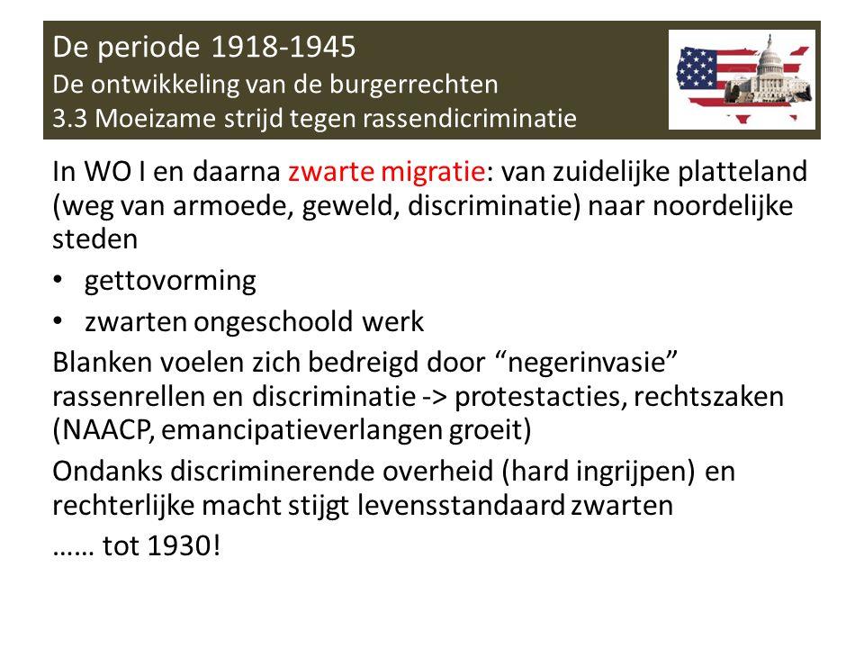 De periode 1918-1945 De ontwikkeling van de burgerrechten 3