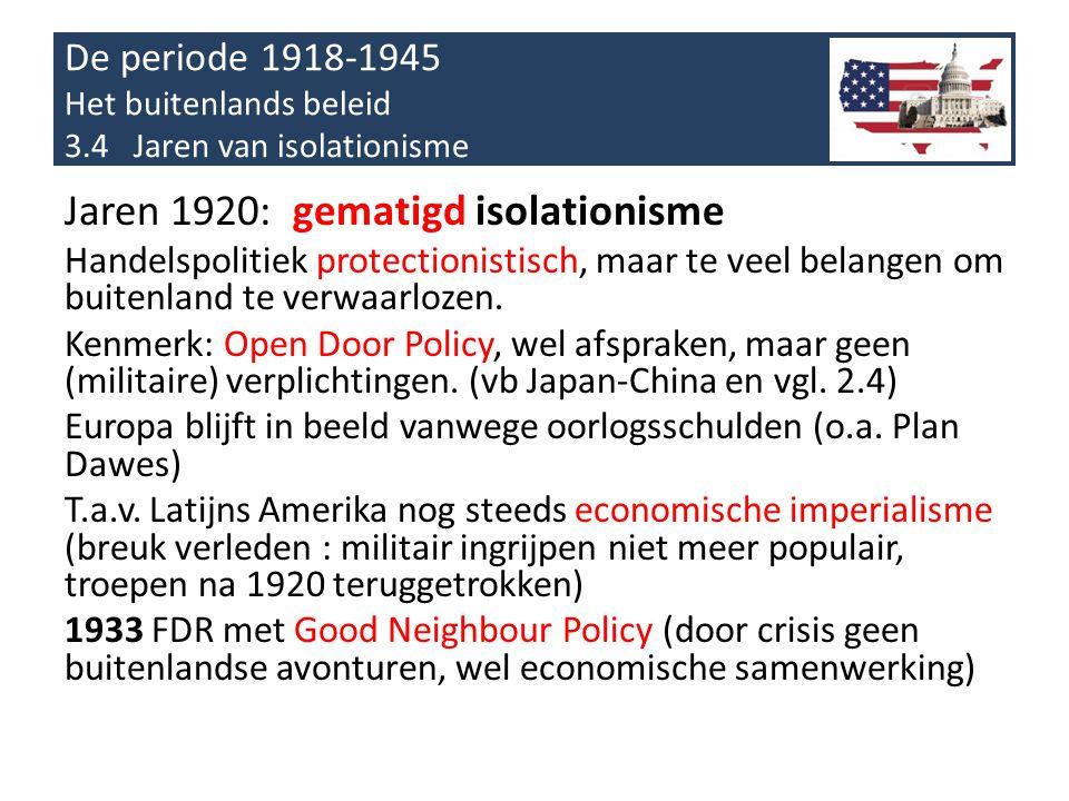 Jaren 1920: gematigd isolationisme