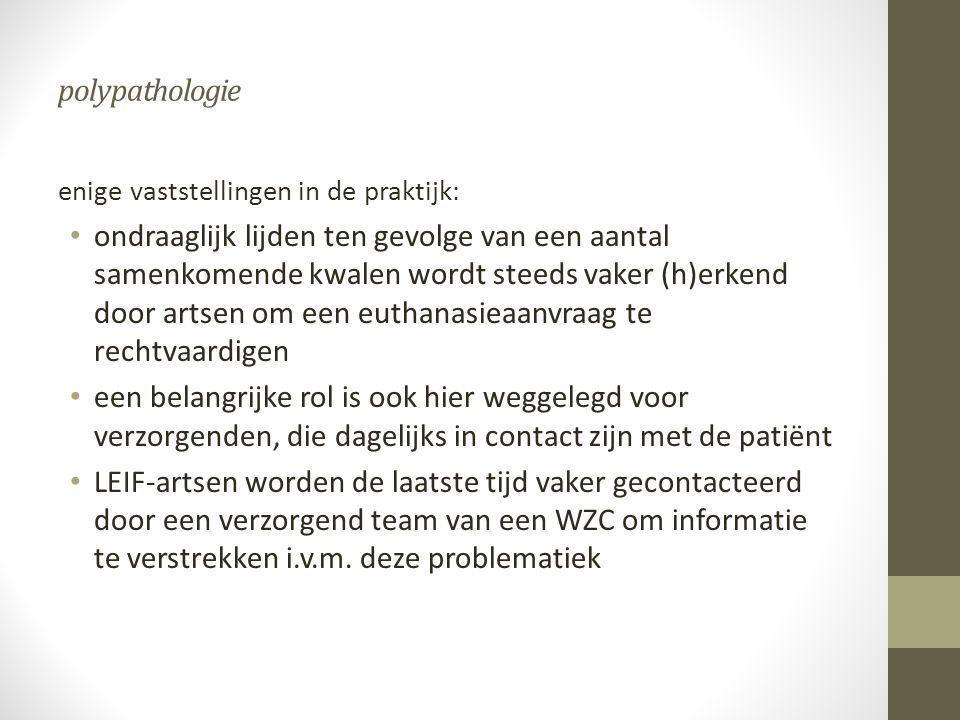 polypathologie enige vaststellingen in de praktijk: