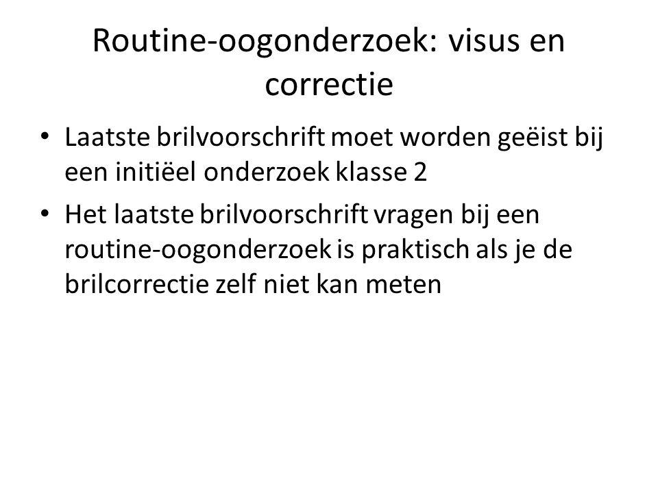Routine-oogonderzoek: visus en correctie