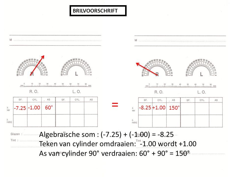 = Algebraïsche som : (-7.25) + (-1.00) = -8.25