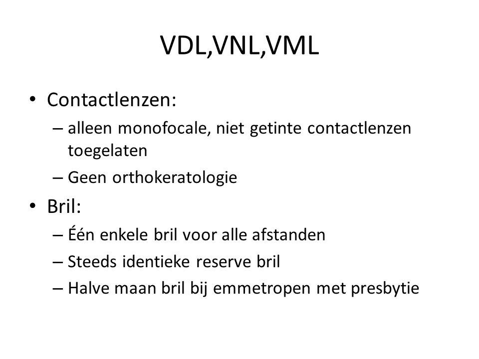VDL,VNL,VML Contactlenzen: Bril: