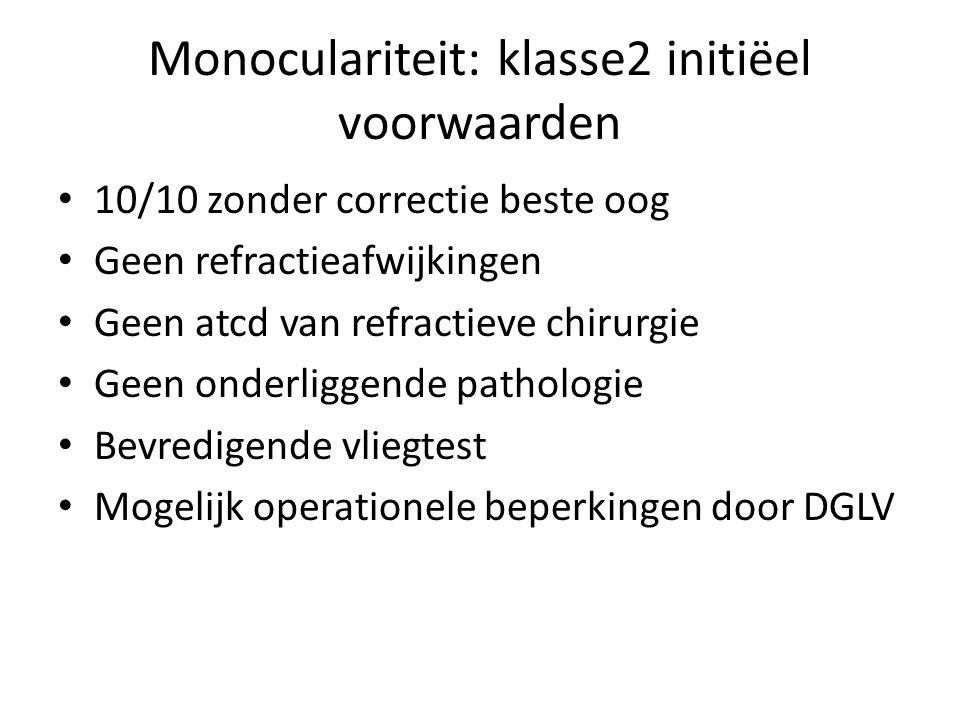 Monoculariteit: klasse2 initiëel voorwaarden