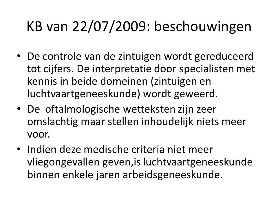 KB van 22/07/2009: beschouwingen
