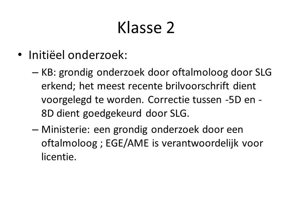 Klasse 2 Initiëel onderzoek: