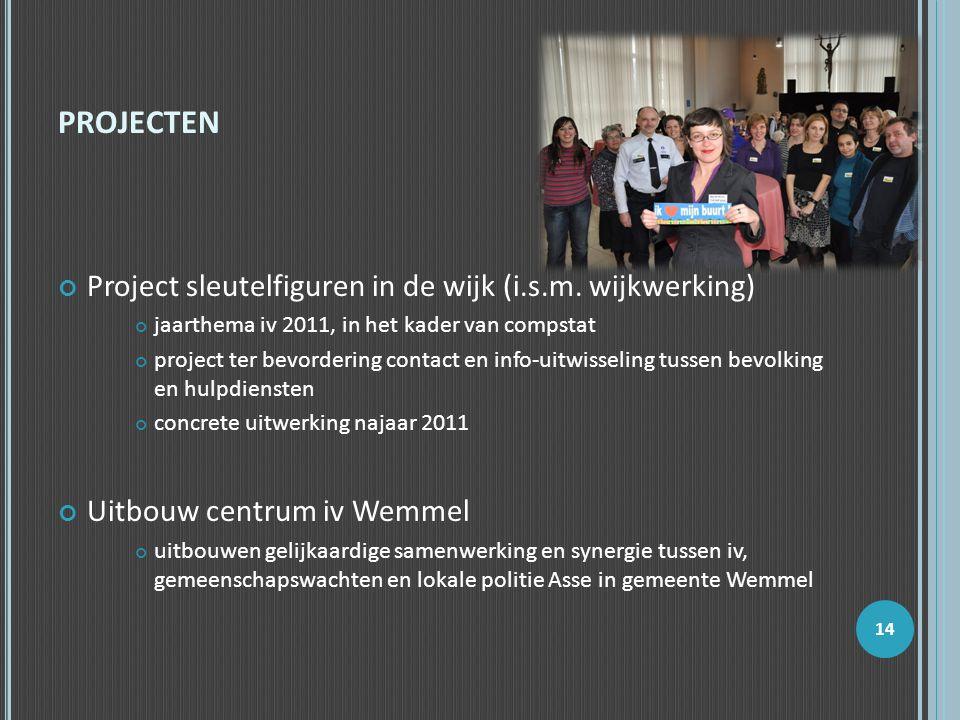 projecten Project sleutelfiguren in de wijk (i.s.m. wijkwerking)