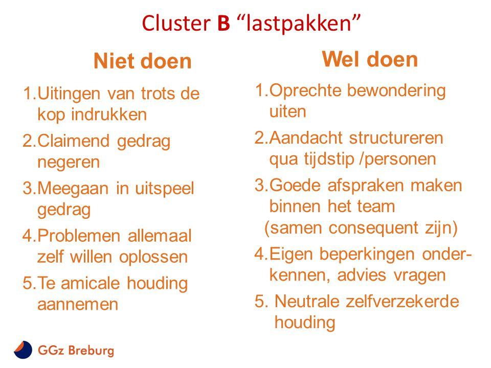 Cluster B lastpakken