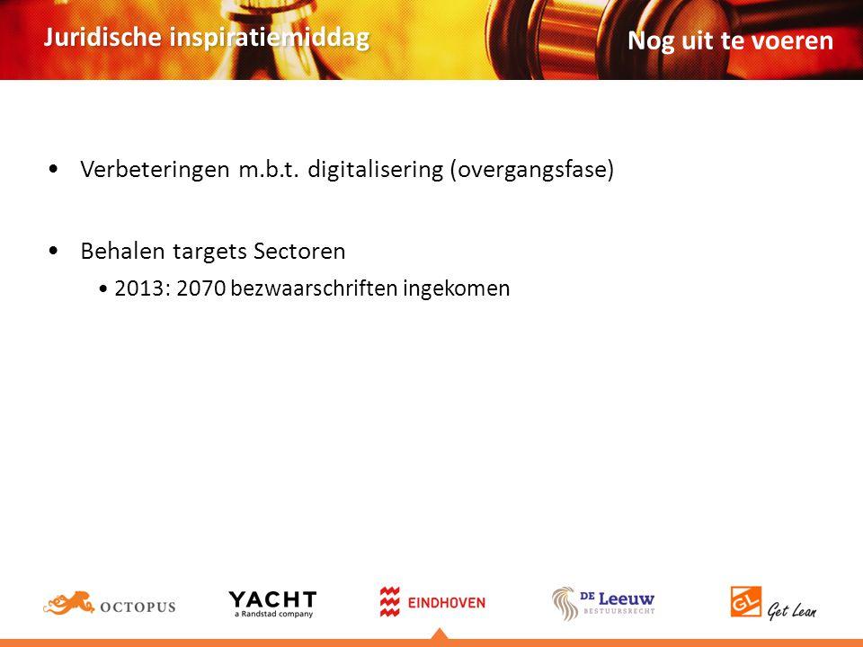 Nog uit te voeren Verbeteringen m.b.t. digitalisering (overgangsfase)