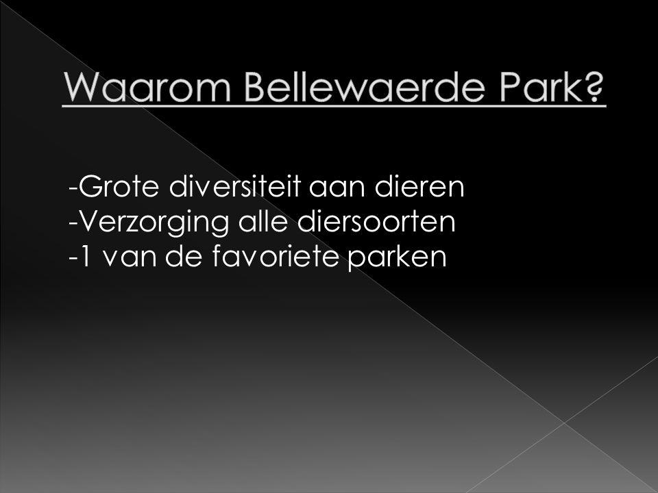 Waarom Bellewaerde Park