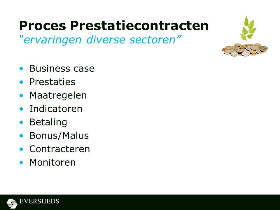 Proces Prestatiecontracten ervaringen diverse sectoren
