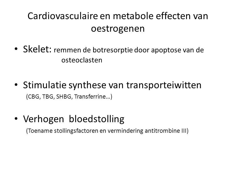 Cardiovasculaire en metabole effecten van oestrogenen