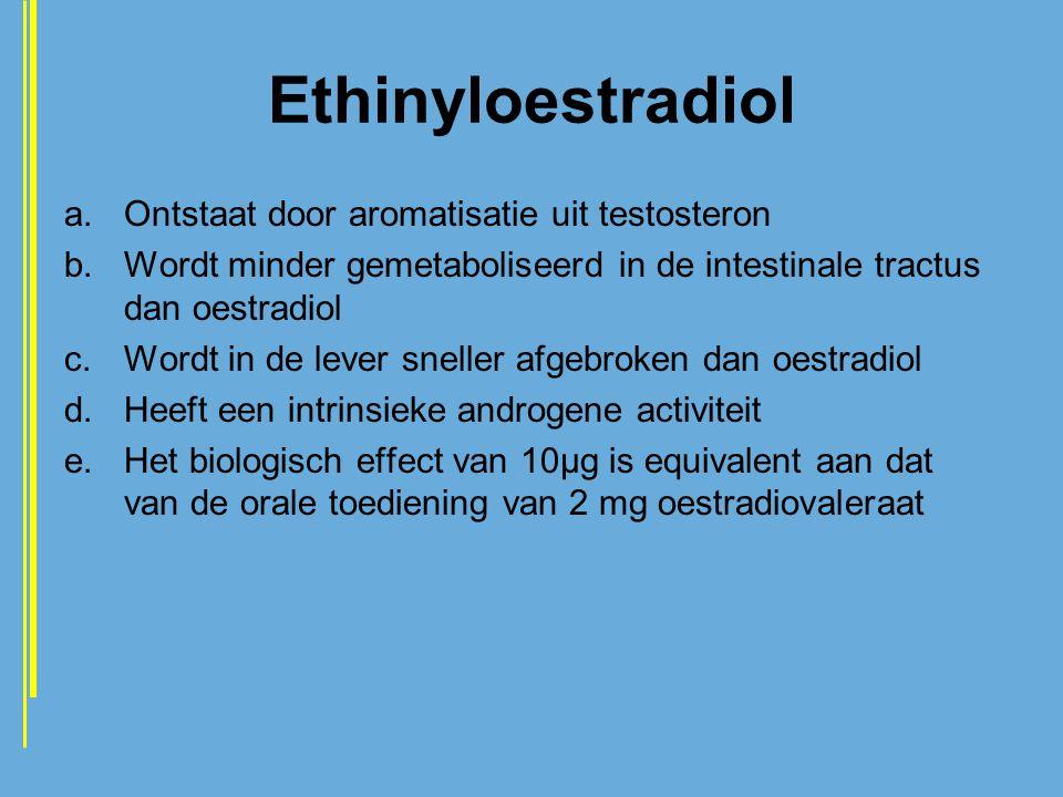 Ethinyloestradiol Ontstaat door aromatisatie uit testosteron
