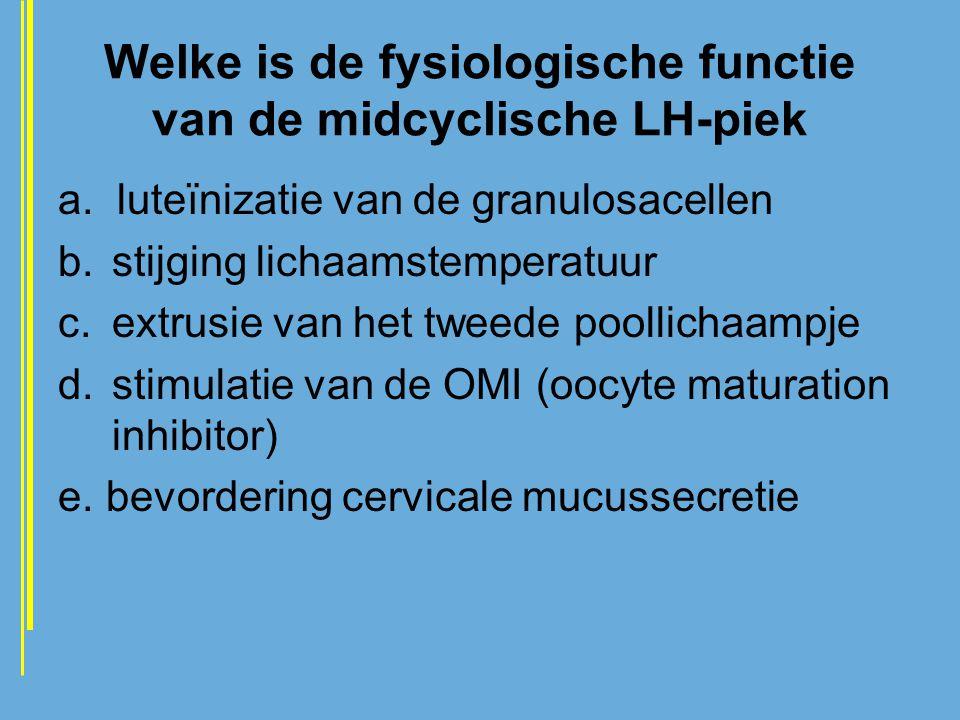 Welke is de fysiologische functie van de midcyclische LH-piek