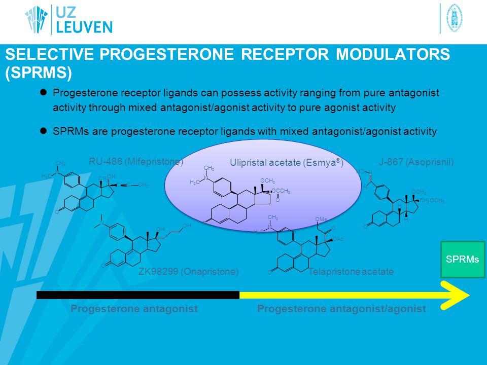 Selective progesterone receptor modulators (SPRMs)