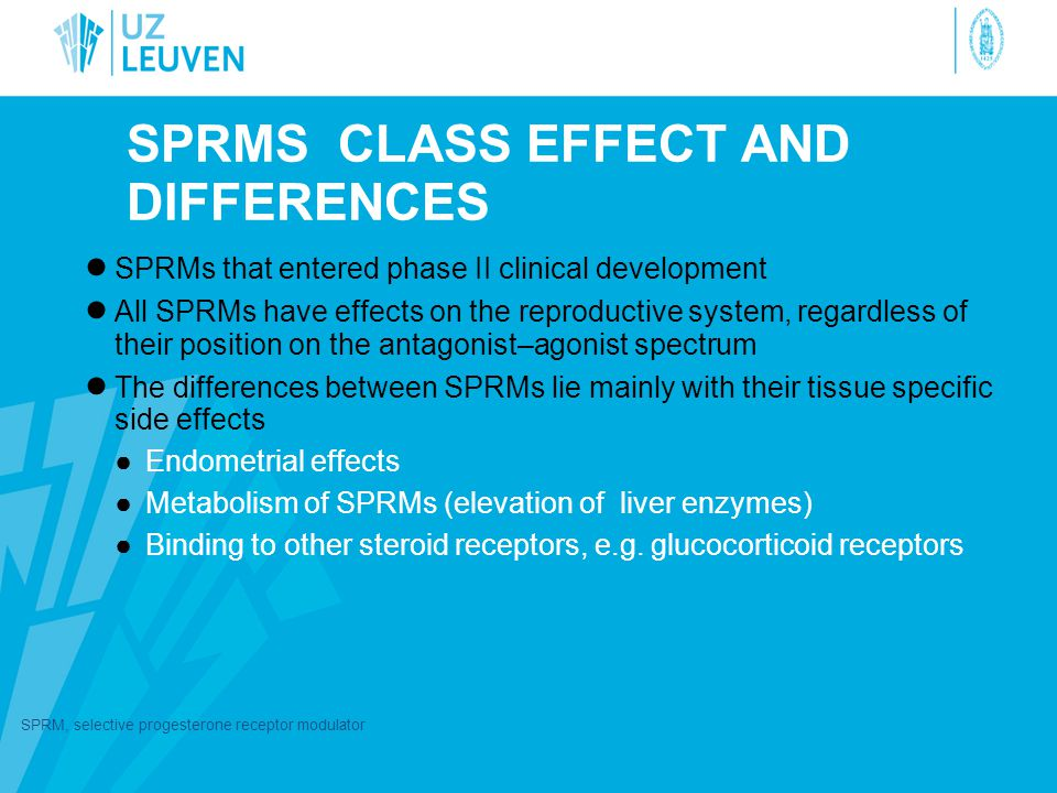SPRMs CLASS EFFECT AND DIFFERENCES