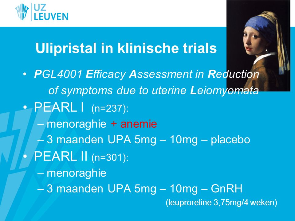 Ulipristal in klinische trials