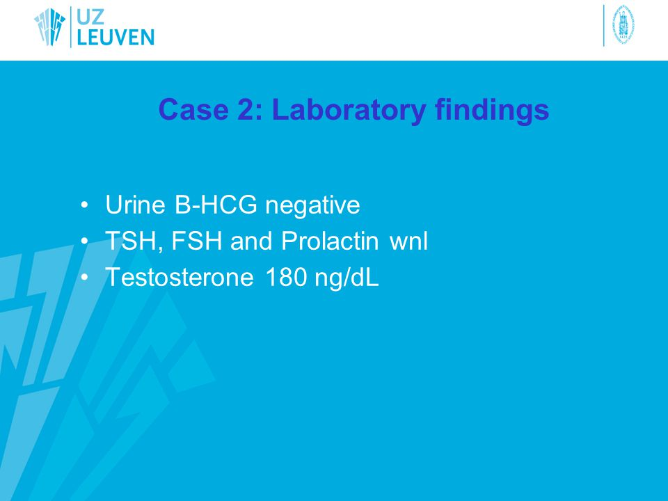 Case 2: Laboratory findings