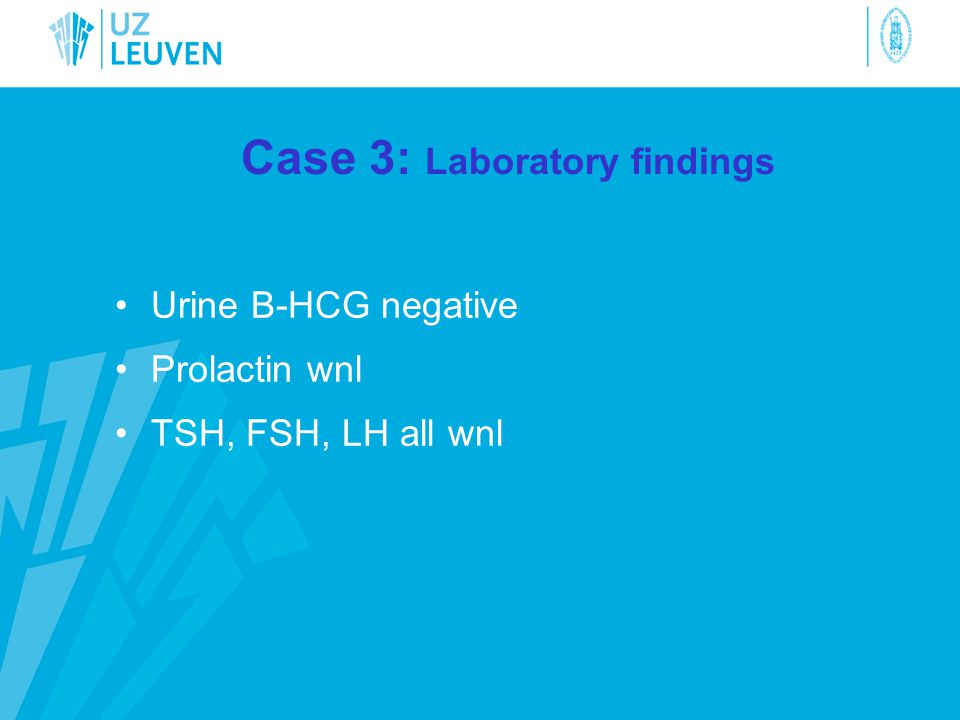 Case 3: Laboratory findings