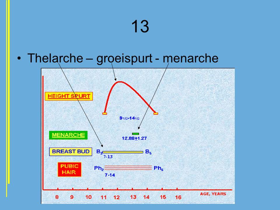 13 Thelarche – groeispurt - menarche
