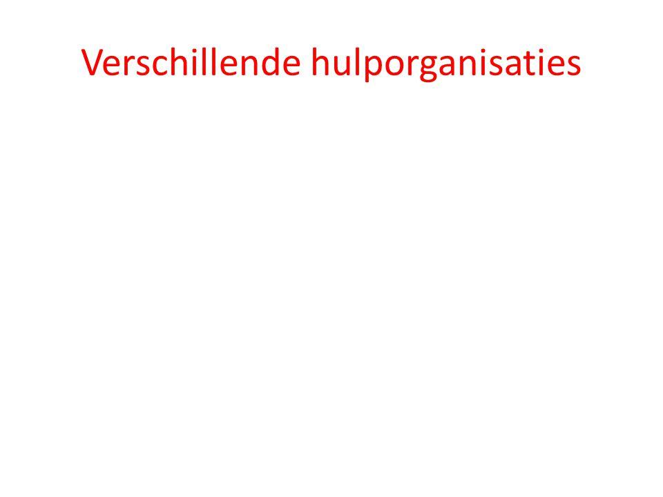 Verschillende hulporganisaties