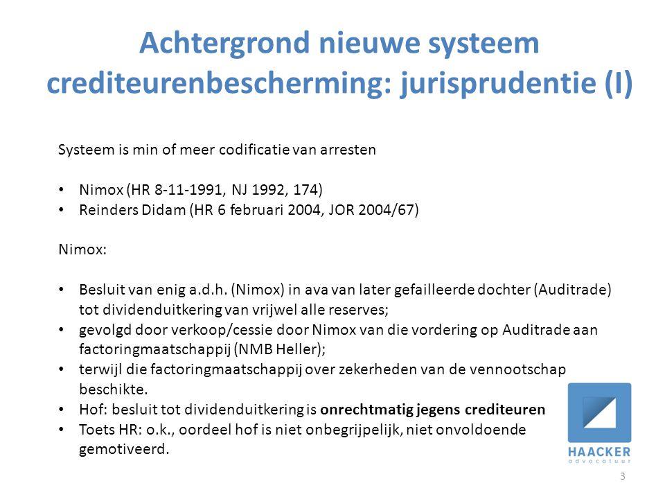 Achtergrond nieuwe systeem crediteurenbescherming: jurisprudentie (I)