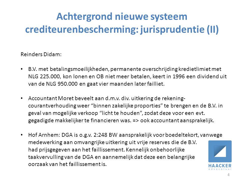 Achtergrond nieuwe systeem crediteurenbescherming: jurisprudentie (II)
