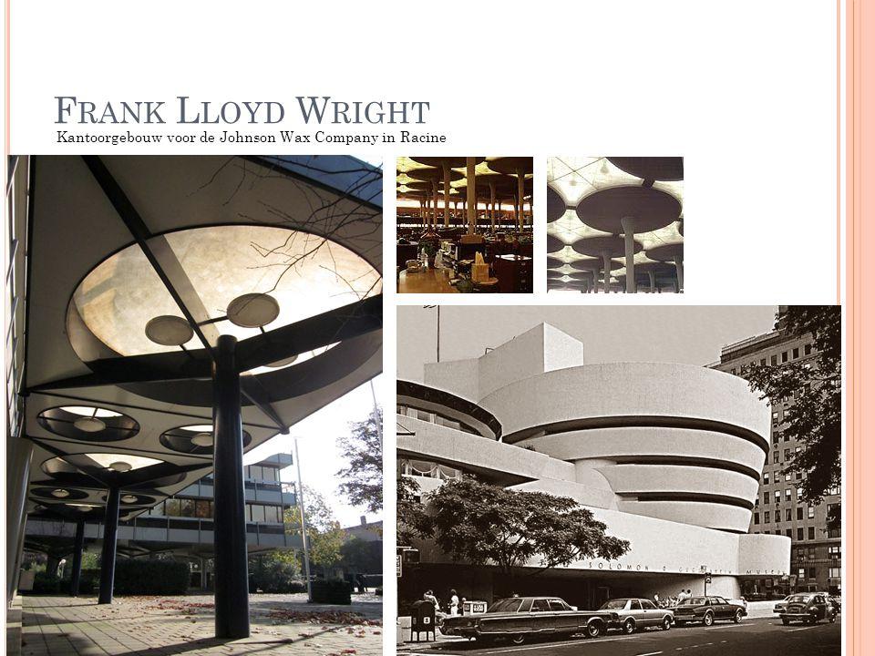 Frank Lloyd Wright Kantoorgebouw voor de Johnson Wax Company in Racine
