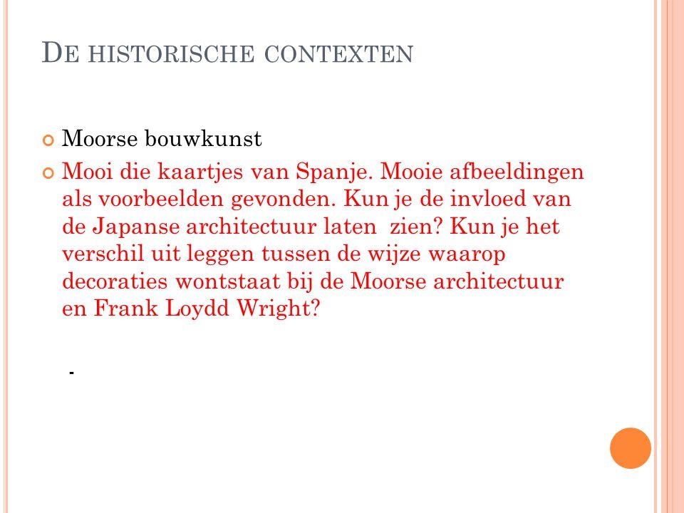 De historische contexten