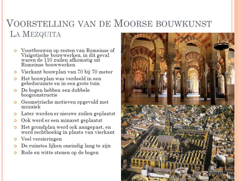 Voorstelling van de Moorse bouwkunst