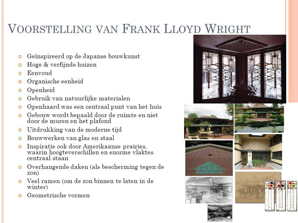 Voorstelling van Frank Lloyd Wright