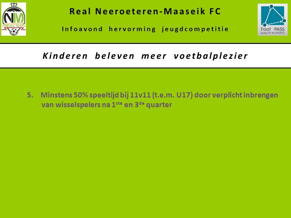 Real Neeroeteren-Maaseik FC Kinderen beleven meer voetbalplezier