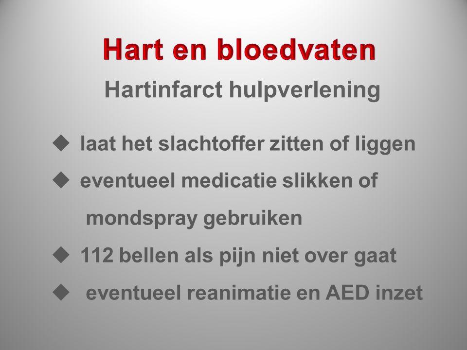 Hart en bloedvaten Hartinfarct hulpverlening