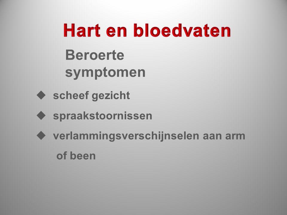 Hart en bloedvaten Beroerte symptomen scheef gezicht spraakstoornissen