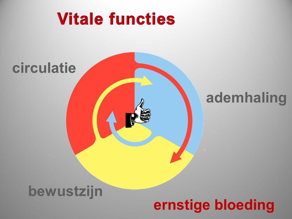 Vitale functies circulatie ademhaling bewustzijn ernstige bloeding