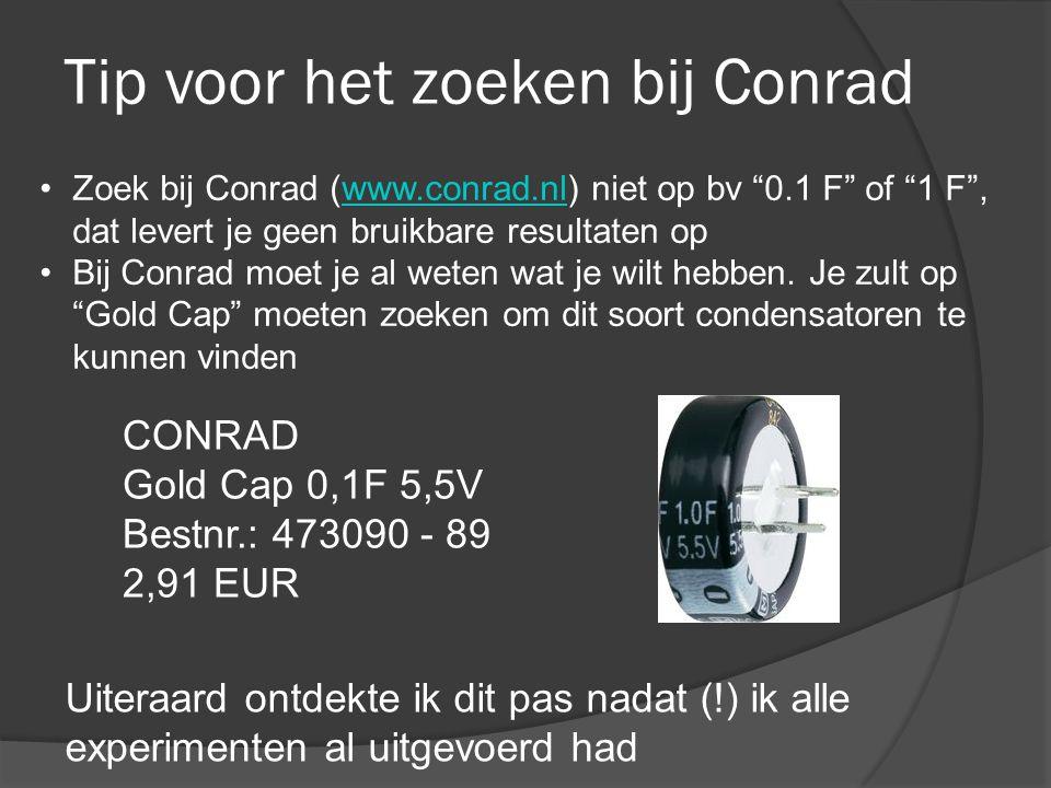 Tip voor het zoeken bij Conrad