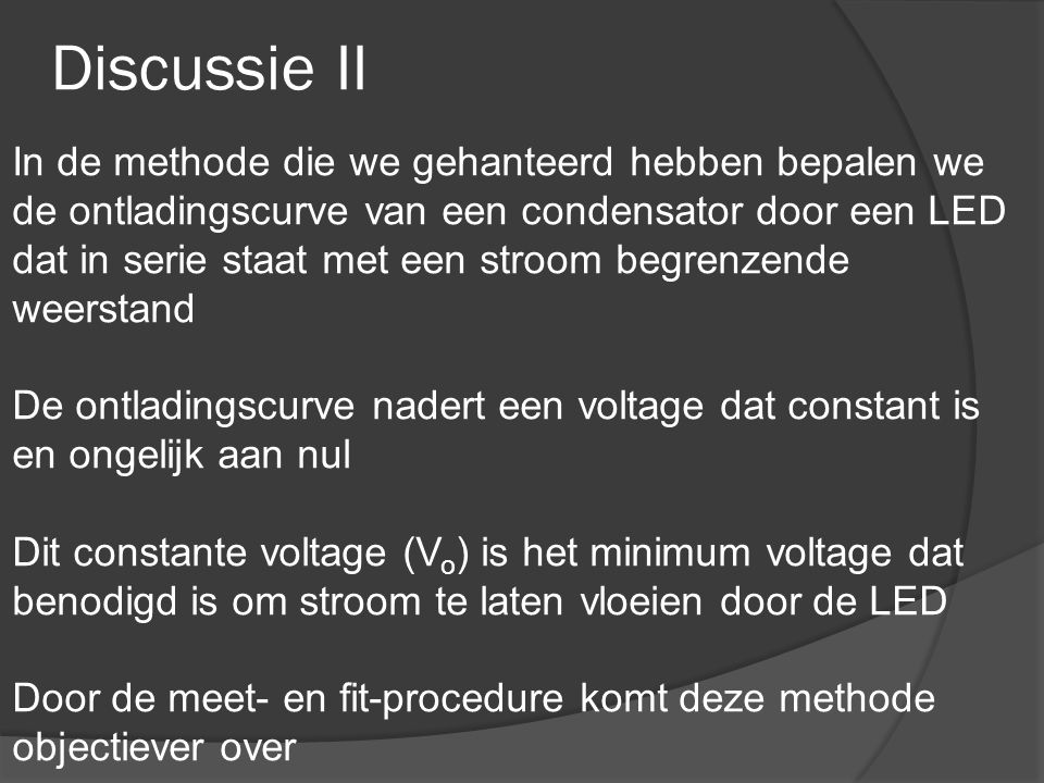 Discussie II