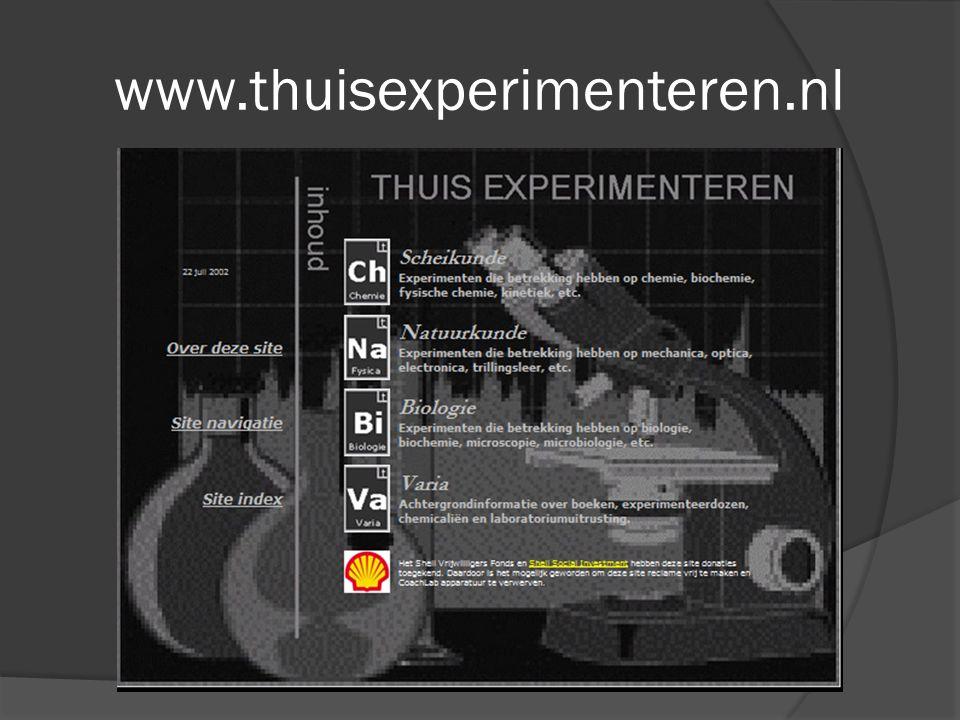 www.thuisexperimenteren.nl Een kans om je site schaamteloos te pluggen moet je altijd aangrijpen.