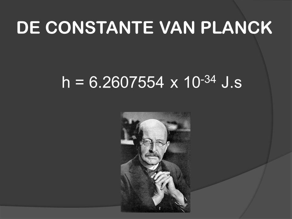 DE CONSTANTE VAN PLANCK