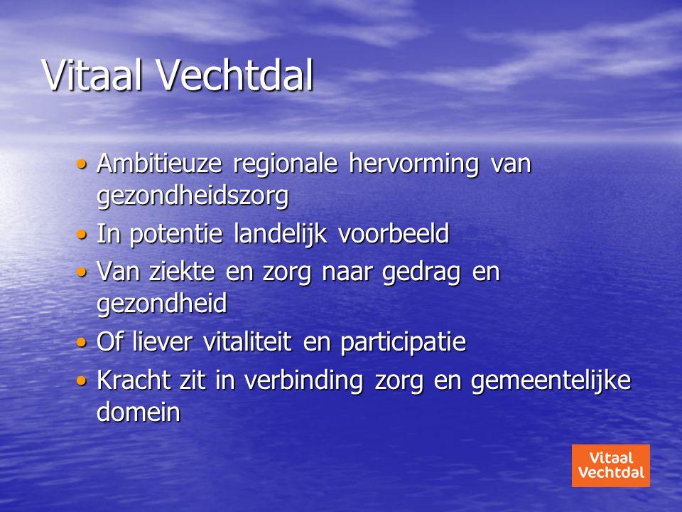 Vitaal Vechtdal Ambitieuze regionale hervorming van gezondheidszorg