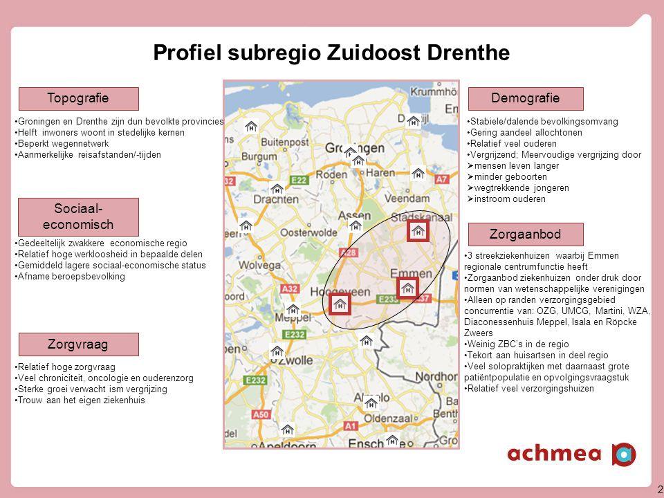 Profiel subregio Zuidoost Drenthe