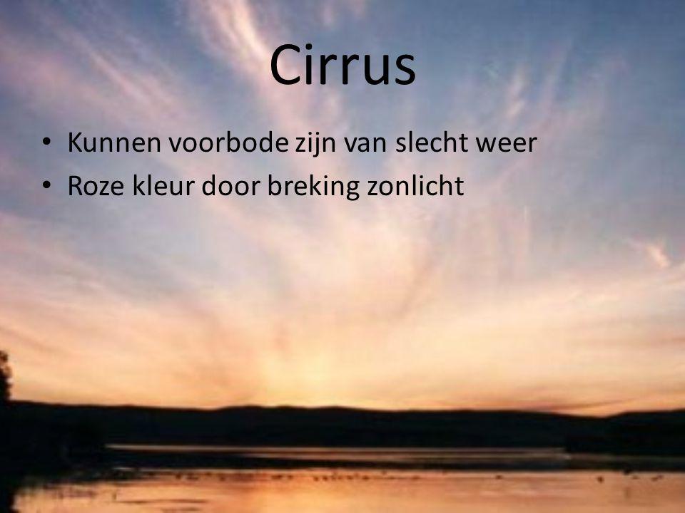 Cirrus Kunnen voorbode zijn van slecht weer