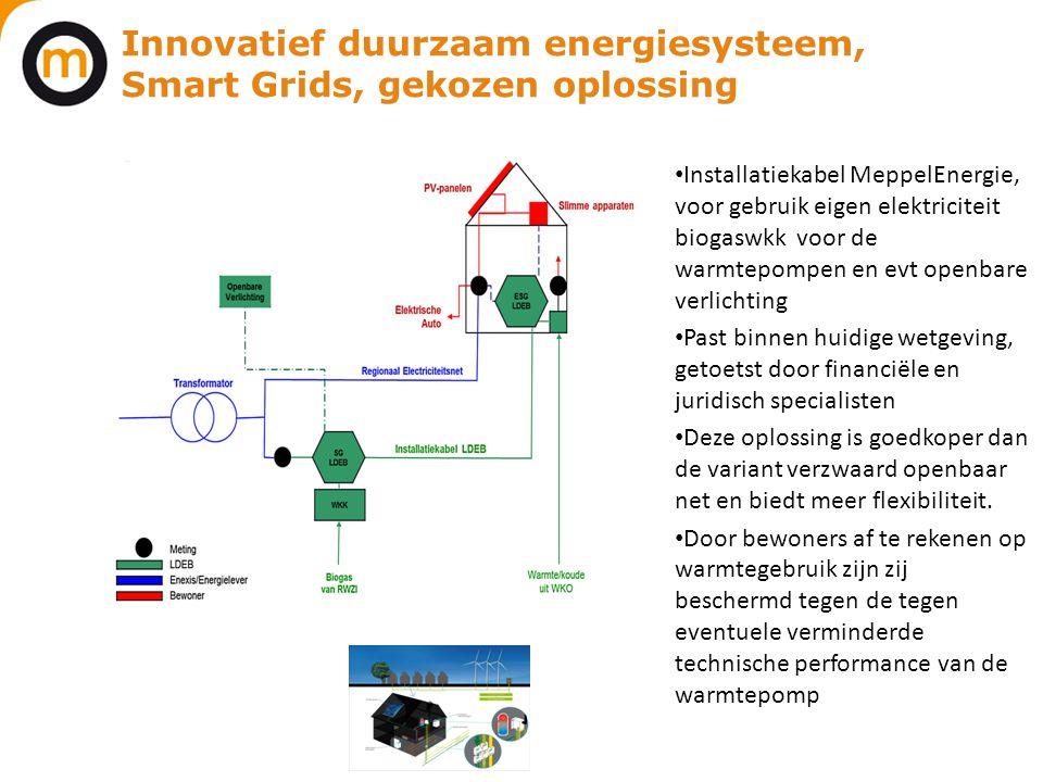Innovatief duurzaam energiesysteem, Smart Grids, gekozen oplossing