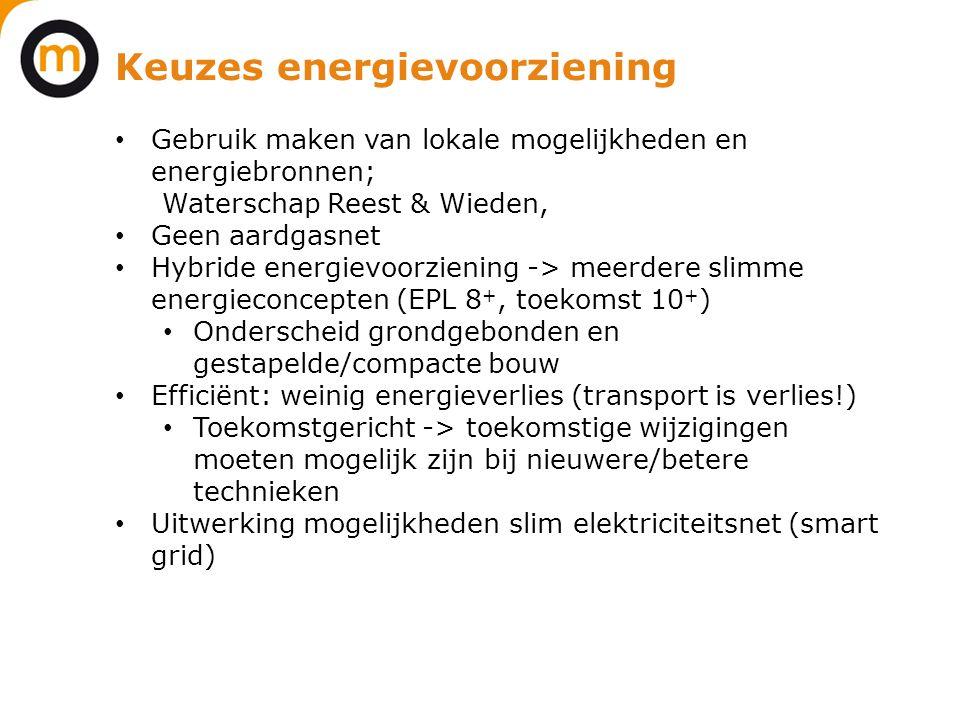 Keuzes energievoorziening